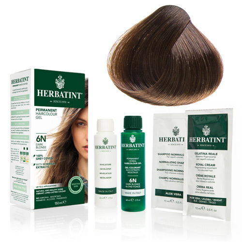 Image of   Herbatint 6N hårfarve Dark Blonde (150 ml)