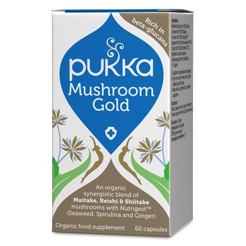 Mushroom gold Ø Pukka (60 kap)