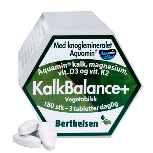 Billede af KalkBalance+ m. kalk,mag,D3,K2 Berthelsen (180 tab)