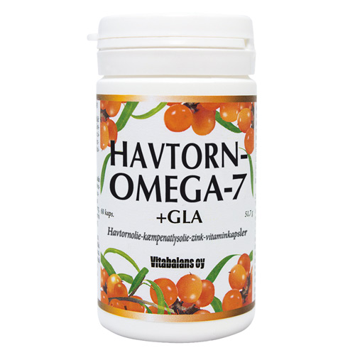 Image of   Havtornomega7+GLA (60kap)