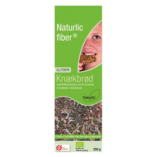 Image of   Naturlic Glutenfri Fiber Knækbrødsblanding (250g)