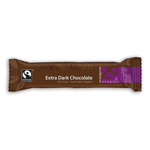 Billede af Seed&Bean Mørk Chokolade 72% Ø (32 gr)