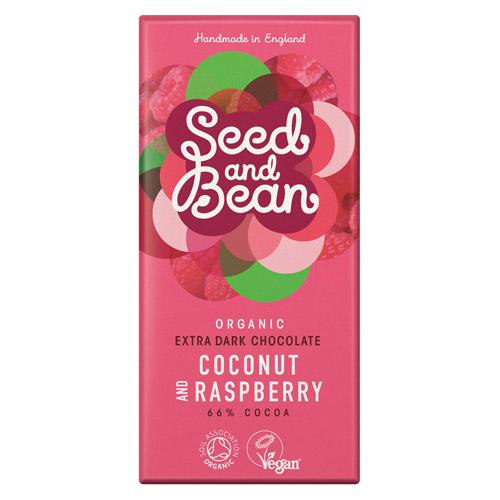 Billede af Seed and Bean Mørk Chokolade 66% Med Coconut Rasberry (85g)
