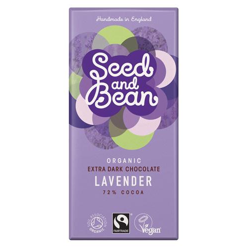Billede af Seed and Bean Mørk Chokolade 72% Med Lavendel (85g)
