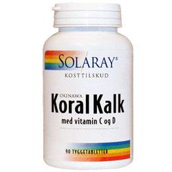 Image of   KoralKalk med vit. C og D tyggetablet (90 tab)