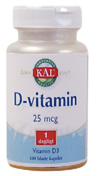 Image of   D-vitamin 25 mcg (100 kap)