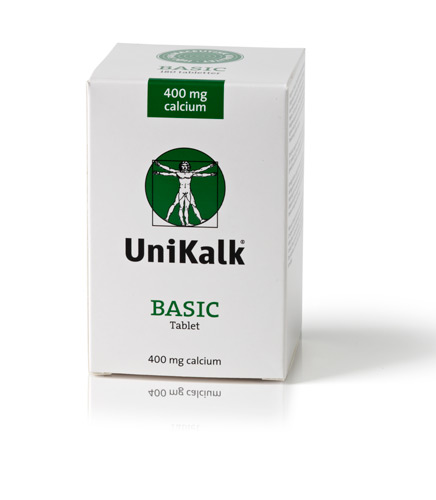 Image of UniKalk Basic 400 mg calcium (180 tab)