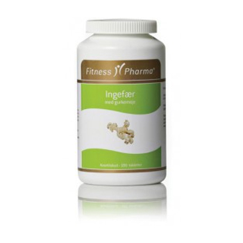Ingefær m. gurkemeje Fitness Pharma (250 tab)