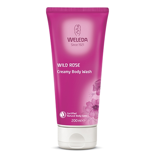 Image of   Creamy Body Wash Wild Rose Weleda (200 ml)