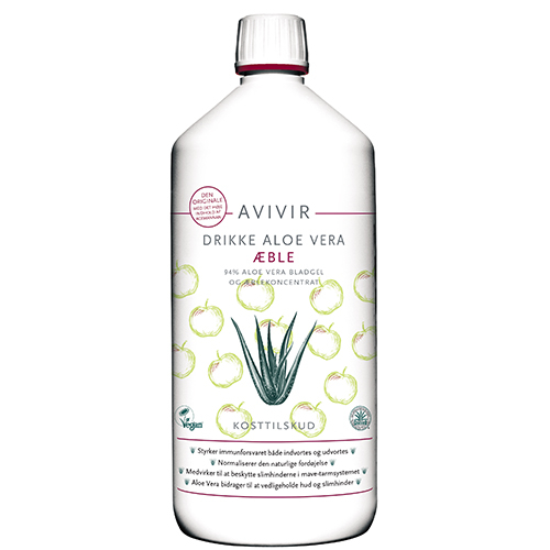 Image of   Aloe Vera Drik Med Æblesmag (1000 ml)