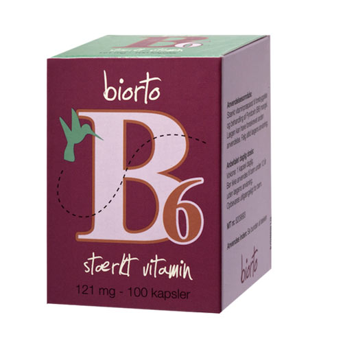 Image of   Biorto Vitamin B6 11 mg (90 kapsler)