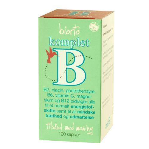 Image of   Biorto Komplet B (120 kapsler)