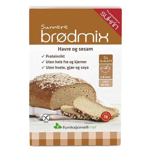 Image of   Funktionel Mad Brødmix Glutenfri med havre og sesam (220g)