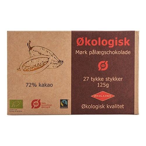Image of Pålægschokolademørk70%Ø (125g)