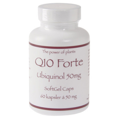 Q10 Forte 50 mg Ubiquinol (60 kapsler)