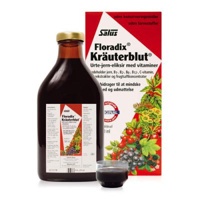 Floradix Kräuterblut Urte-Jern Mikstur (500 ml)