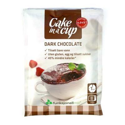 Funktionel Mad Cake in a cup – Chokoladekage lavet på Mørk Chokolade (75 gr)
