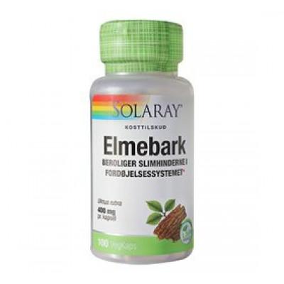 Solaray Elmebark - Slippery Elm 400 mg (100 kapsler)