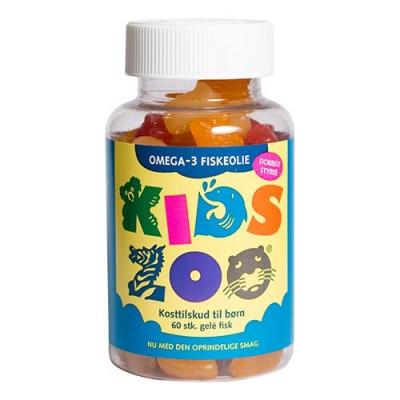 Kids Zoo Omega 3 Børnevitamin - Gelé Fisk (60 stk.)