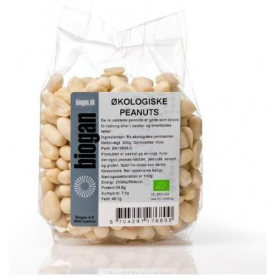Rå Økologiske Peanuts usaltede