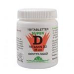 D3-vitamin 85 µg 180 tabletter