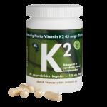 DFI Grønne Vitaminer K2-vitamin 45 mcg + D3 (60 kapsler)