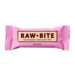 Rawbite Protein - Laktose- og glutenfri frugt- og nøddebar Ø (50 gr)