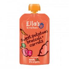 Babymos søde kartofler, brocco & gulerod 4 mdr Ø Ellas Kitchen (120 g)