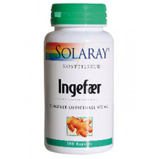 Solaray Ingefær 550 mg (100 Kapsler)