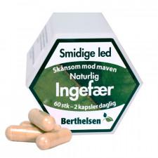 Berthelsen Ingefær Ren (60 kapsler)