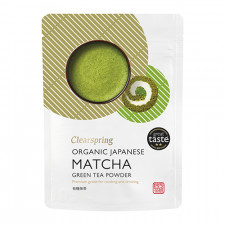 Matcha grøn te pulver (premium grade) Ø Clearspring (40 g)