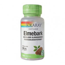 Solaray Elmebark - Slippery Elm 400 mg (100 kapsler)