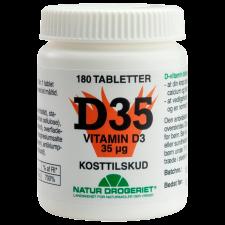 Natur Drogeriet D-vitamin 35 ug (180 tabletter)