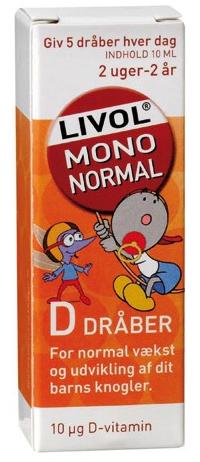 Image of   D-Dråber til Børn Livol (10 ml)