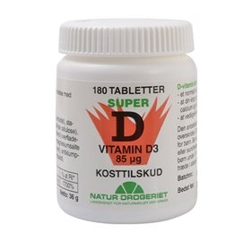 Image of   D3-vitamin 85 µg 180 tabletter