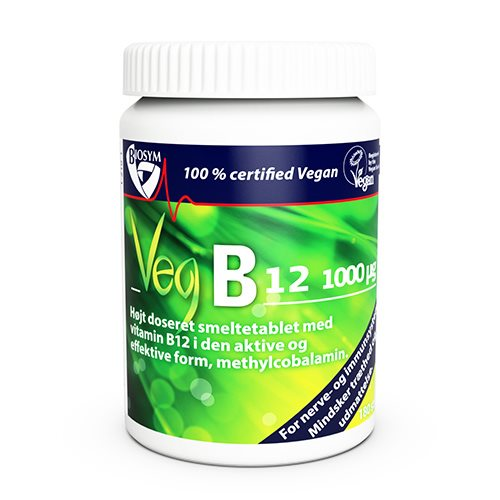 Image of   Biosym Veg B12 vitamin - Smeltetablet (120 tabletter)