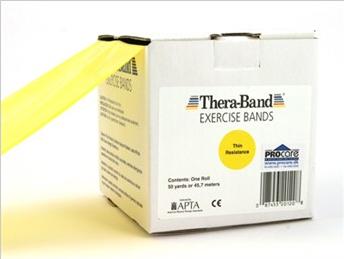 Image of   Thera-Band elastik bånd 45m (Gul - Meget let)