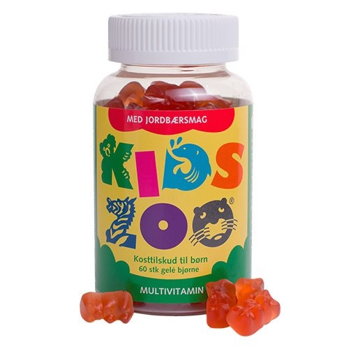 Image of Kids Zoo Multivitamin m. jordbærsmag (60 tab)