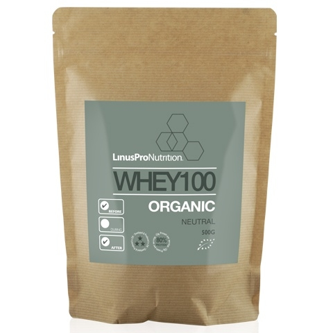 Image of   LinusPro Økologisk WHEY100 Proteinpulver - Neutral (500 g)