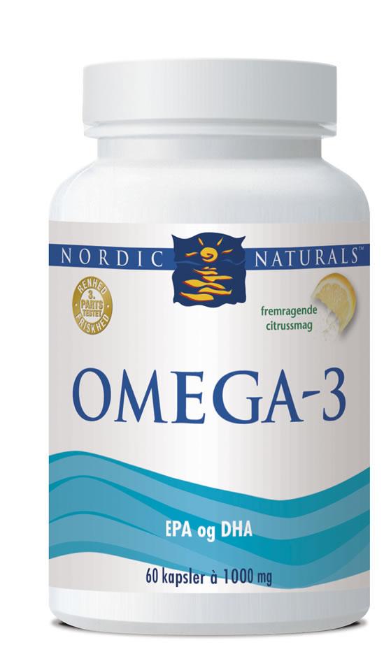 Omega-3 Nordic Naturals (60 kap)