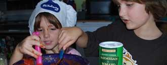 Børn madlavning